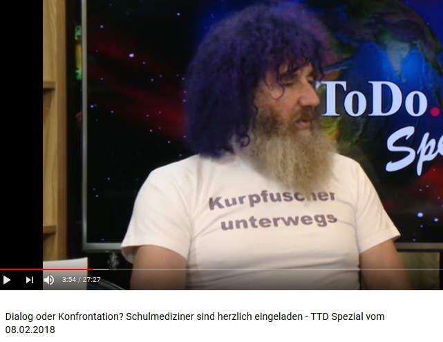 Robert-Franz-Bild vom 8.2.2018 in der Sendung von TimeToDo