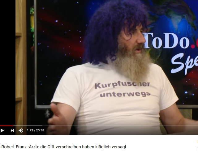 Robert-Franz-Bild vom 9.3.2018 in der Sendung von TimeToDo